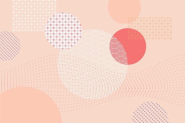 Fondo geométrico en concepto de estilo japonés