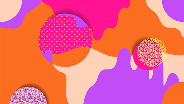 Fondo geométrico creativo con elementos florales y diferentes texturas. collage.