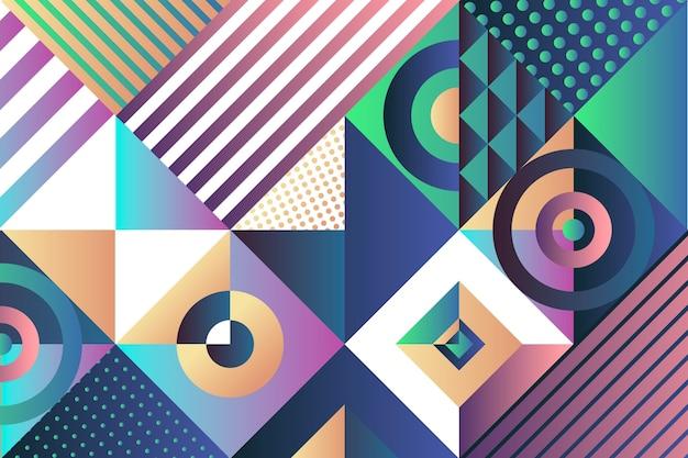 Fondo geométrico degradado abstracto