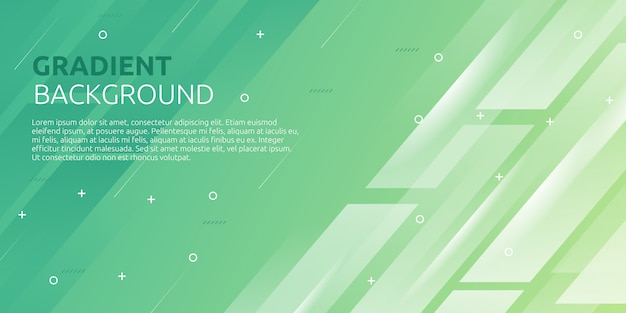 Fondo geométrico degradado verde