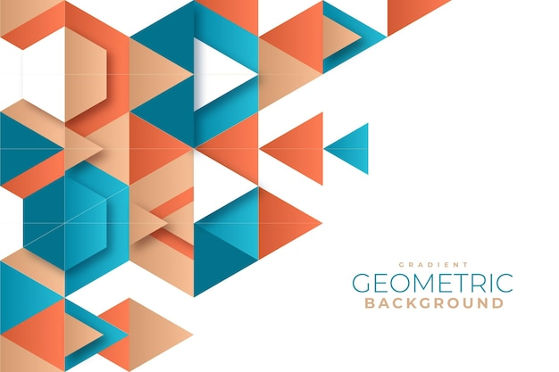 Fondo geométrico degradado