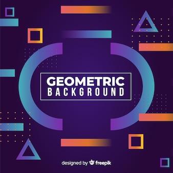 Fondo geométrico con degradados