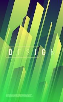 Fondo geométrico dinámico abstracto, cubierta mínima colorida