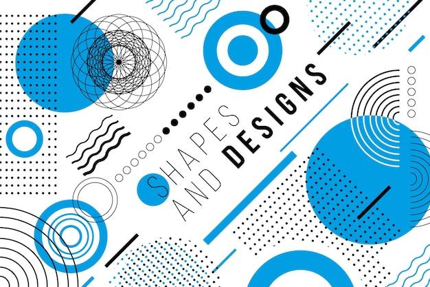 Fondo geométrico de diseño gráfico