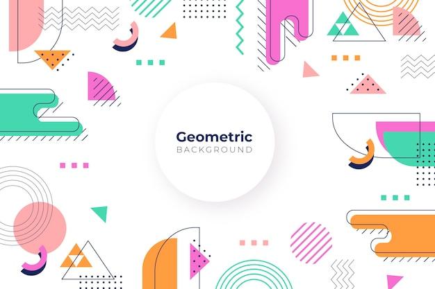 Fondo geométrico de diseño plano