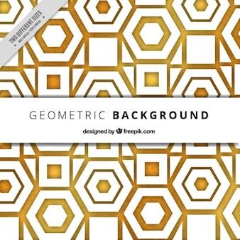 Fondo geométrico dorado