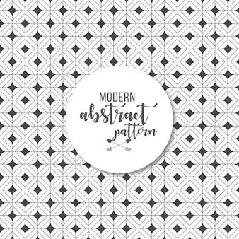 Fondo geométrico estampado simple en blanco y negro