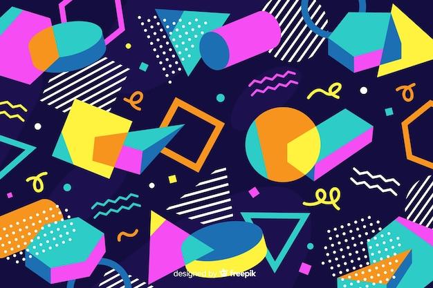 Fondo geométrico en estilo años 80
