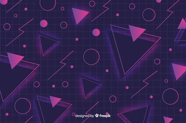 Fondo geométrico en estilo memphis