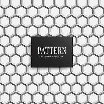 Fondo geométrico sin fisuras patrón 3d hexagonal neta