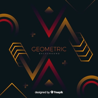 Fondo geométrico con formas degradadas