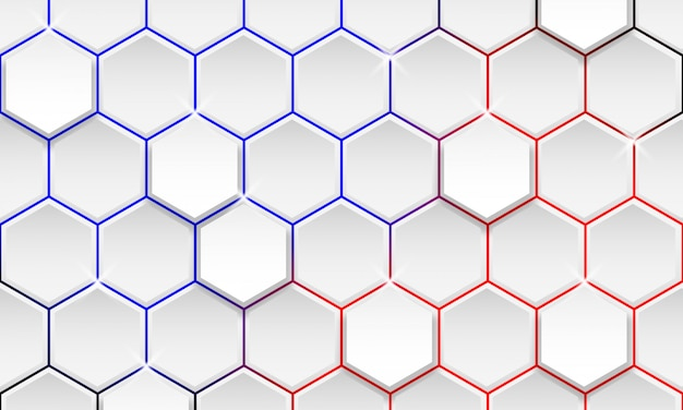 Fondo geométrico futurista, fondo moderno del hexágono
