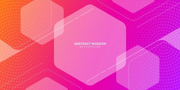 Fondo geométrico hexagonal abstracto