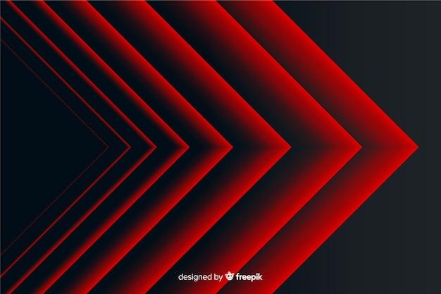 Fondo geométrico de líneas puntiagudas rojas abstractas modernas