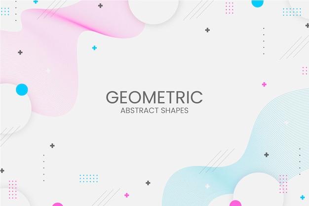 Fondo geométrico de memphis con formas abstractas
