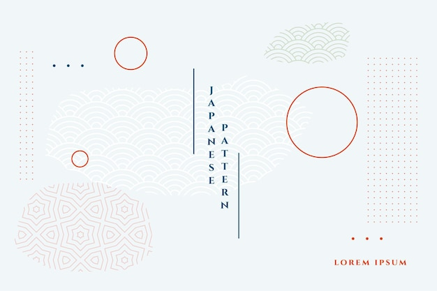 Fondo geométrico minimalista blanco estilo japonés