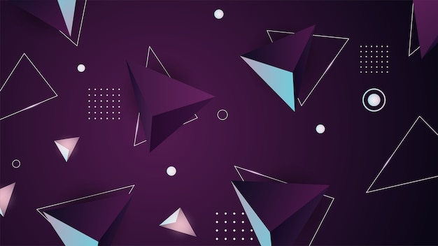 Fondo geométrico. minimalista futurista. render, ilustración digital. geometría abstracta. forma geometrica. valores .