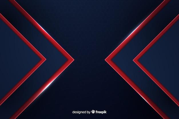 Fondo geométrico moderno abstracto líneas rojas
