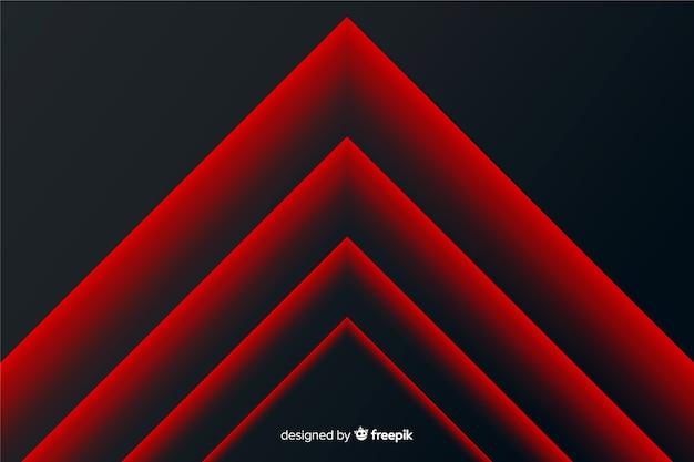 Fondo geométrico moderno abstracto rojo líneas de impulso