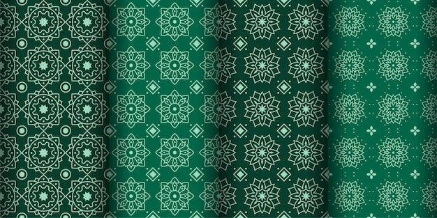 Fondo geométrico moderno de patrones sin fisuras. papel pintado clásico de batik. conjunto