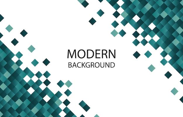 Fondo geométrico moderno del pixel cuadrado verde dinámico