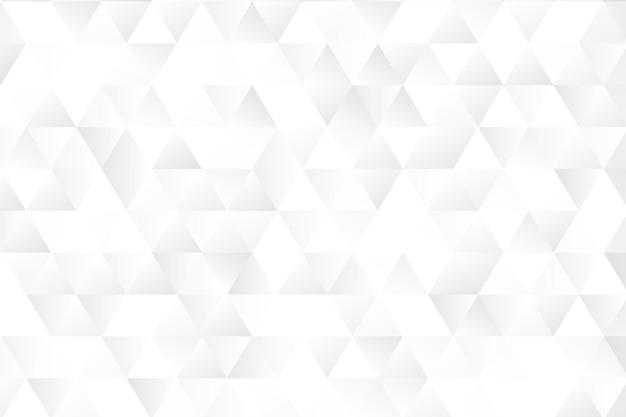 Fondo geométrico monocromático blanco
