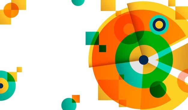 Fondo geométrico multicolor degradado