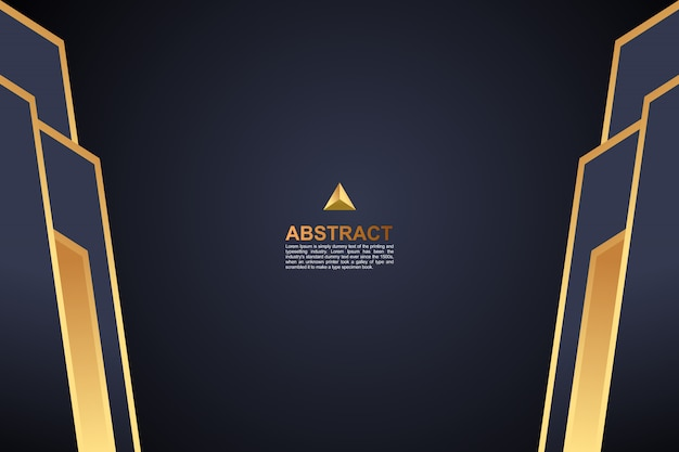Fondo geométrico de oro oscuro de color abstracto