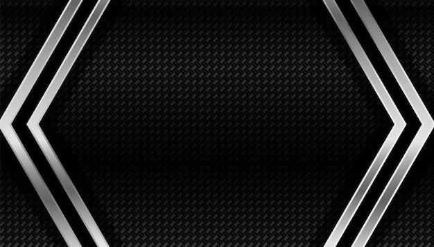 Fondo geométrico oscuro de fibra de carbono y metal