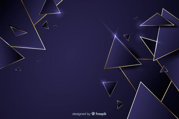 Fondo geométrico oscuro de lujo