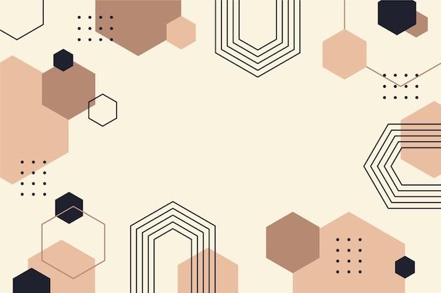 Fondo geométrico plano con espacio vacío vector gratuito
