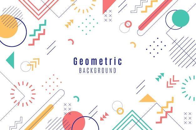 Fondo geométrico plano