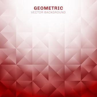 Fondo geométrico rojo abstracto del modelo de los triángulos