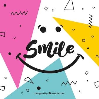 Fondo geométrico de sonrisa
