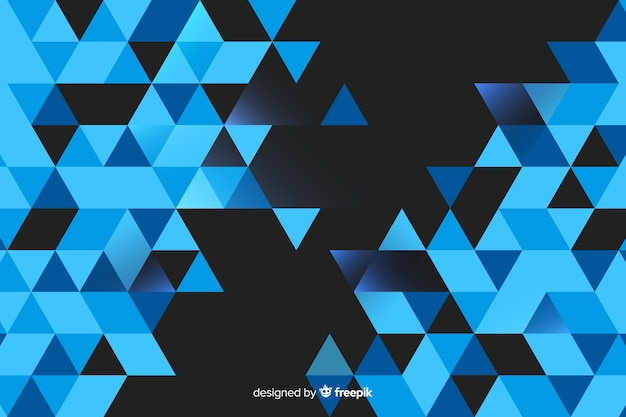 Fondo geométrico con triángulos