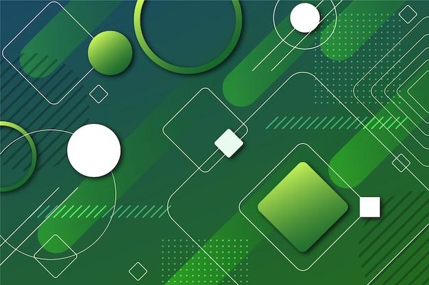 Fondo geométrico verde abstracto
