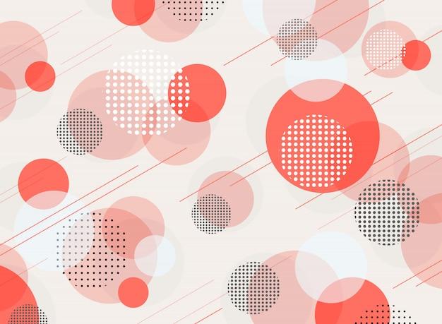 Fondo geométrico vivo abstracto del modelo del color coralino.