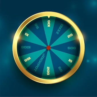 Fondo de giro de la suerte de la rueda de oro de la fortuna