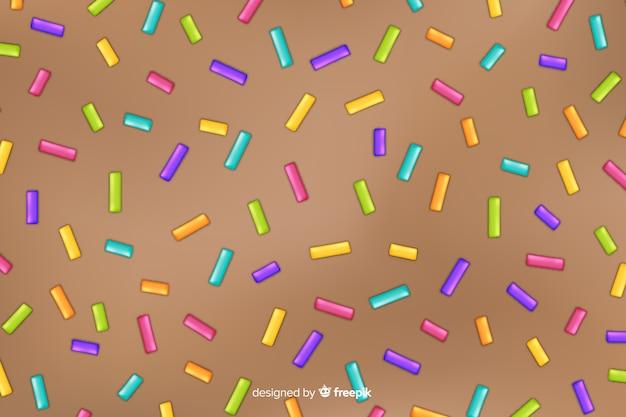 Fondo de glaseado de donut con chispitas