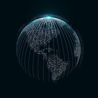 Fondo de globo de tecnología