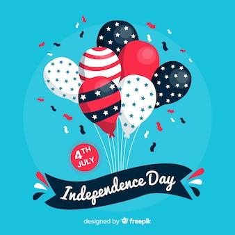 Fondo de globos del 4 de julio - día de la independencia