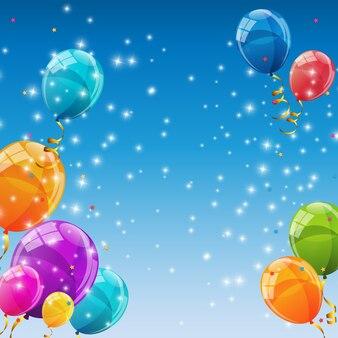 Fondo de globos de color brillante