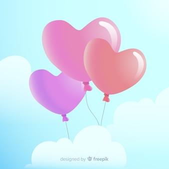 Fondo globos corazón