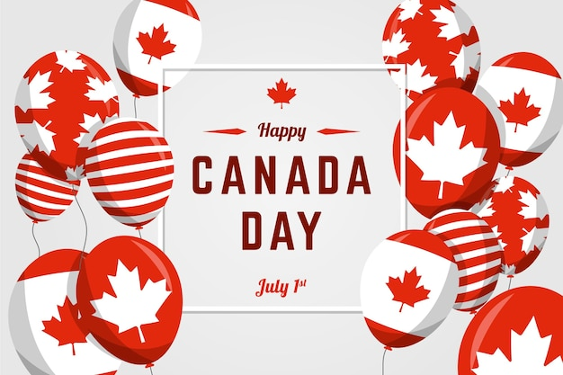 Fondo de globos del día de canadá