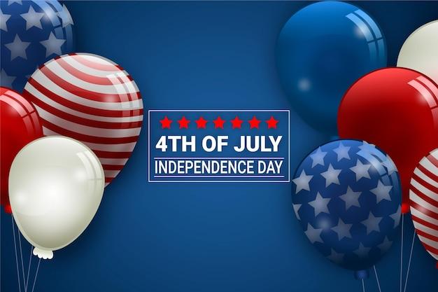 Fondo de globos del día de la independencia