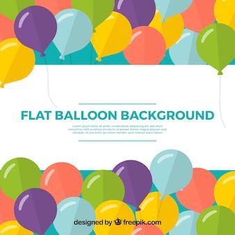 Fondo de globos en estilo colorido