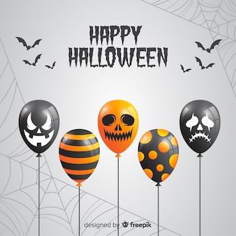 Fondo de globos de halloween