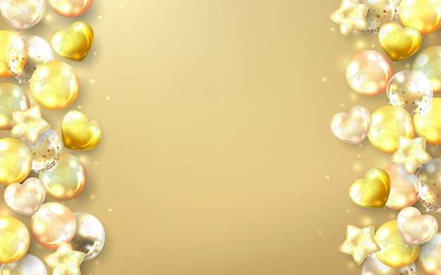 Fondo de globos de oro