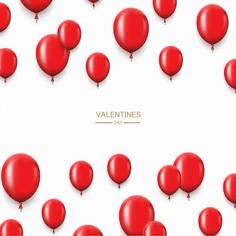 Fondo de globos rojos