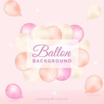 Fondo de globos rosa para celebrar
